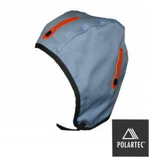 Cotton twill Hard Hat Liner with fleece lining.