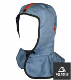 Cape style cotton twill hard hat liner featuring fleece lining.